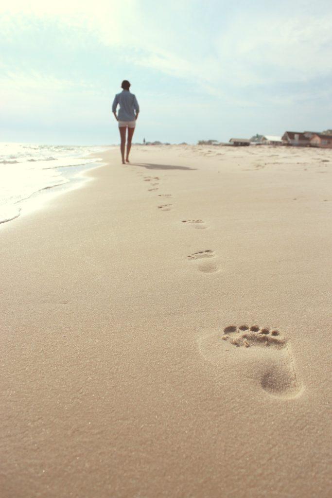 empreinte dans sable